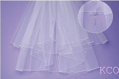 V0294 White Communion Veil